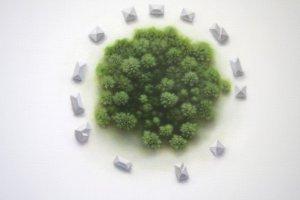Greenspace, oil on board, 25cm x 30cm, 2006
