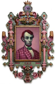 "Pink Lincoln by Mark Ryden, 22""x16"" oil on canvas, 2010"