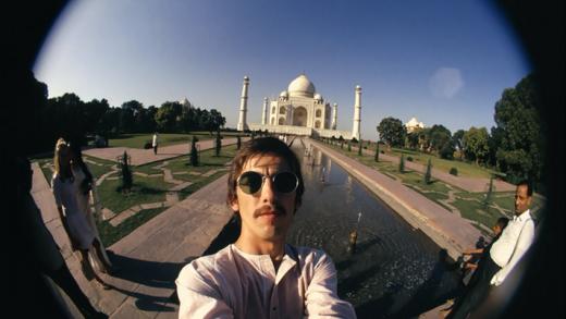 George Harrison's fisheye self-portraits in India, 1966 (1)